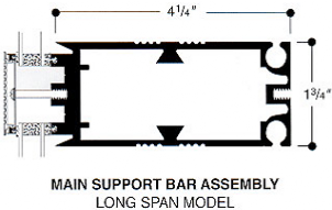 main support bar assembly