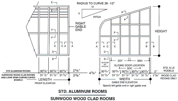 standard aluminum rooms sunwoodwoodclad rooms details
